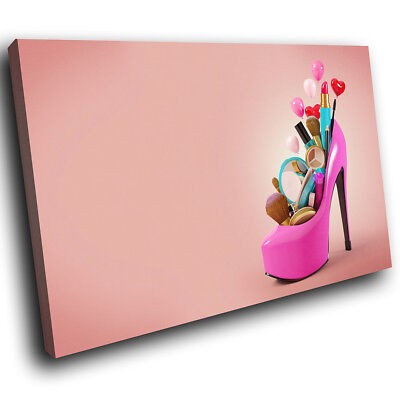 E095 Colourful Makeup Brush Cool Modern Canvas Wall Art Large Picture Prints