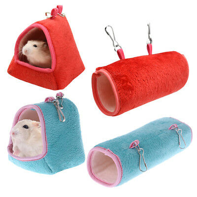 Hamster Cage Hammock Guinea Pig Sleeping Bed Winter Warm Small Animal House