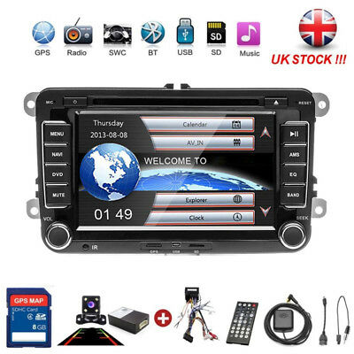 7''DVD Player Car Stereo Radio GPS SAT NAV Camera Fit VW Passat Golf Transporter