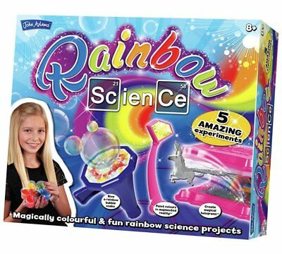 John Adams RAINBOW SCIENCE kit - 5 colourful experiments for kids girls 8+
