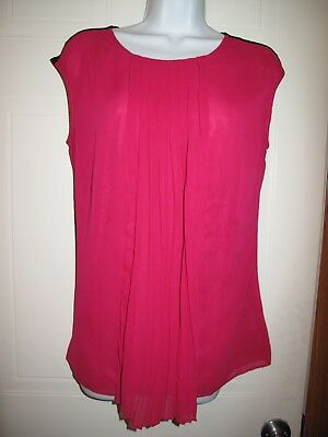 a78bc36a0f4f10 WORTHINGTON JCPENNEY WOMENS Dressy Tank Top Blouse Pink Black Size M ...