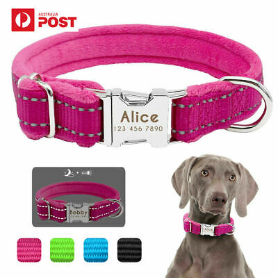 Dog Collar Personalised Reflective Large Dog Collars Fur Nylon Adjustable Collar