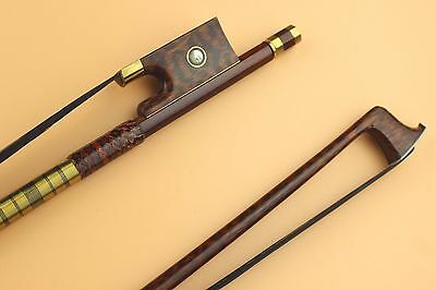 3pcs New Snakewood violin bows 4/4 full size beautiful pattern black horse hair