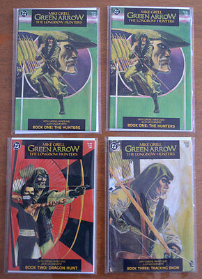 Green Arrow: Longbow Hunters #1 (TWO COPIES), #2, # 3 (1987)