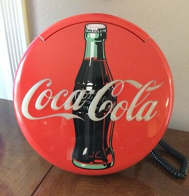 "Vintage Coca Cola 12"" Blinking Disc Telephone 1996"