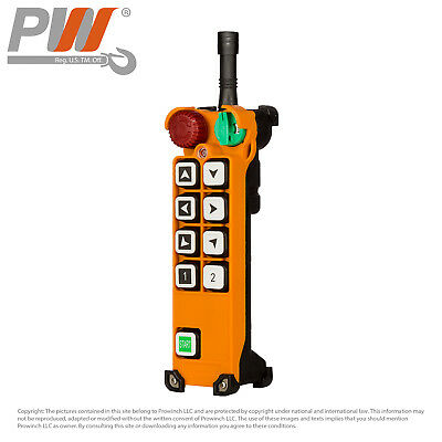 ProWinch F24 Transmitter (only) 8 Buttons Single Speed