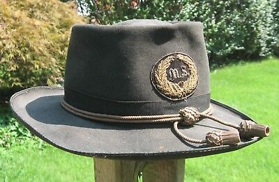 Medical Officer Slouch Hat With Insignia---Attributed