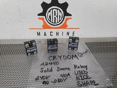 CRYDOM A2440 Solid State Relay 240V 40A 90-280V Used Nice Shape (Lot of 3)