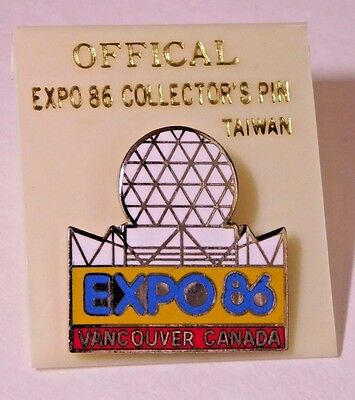 EXPO 1986 Vancouver Canada World Exposition Pin White Dome