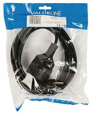 Valueline Power cable Schuko straight male - Schuko female straight 3m black