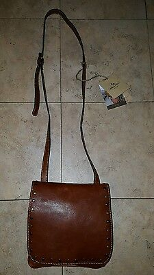 Patricia Nash TAN Italian Leather Granada Cross body With Studs Purse