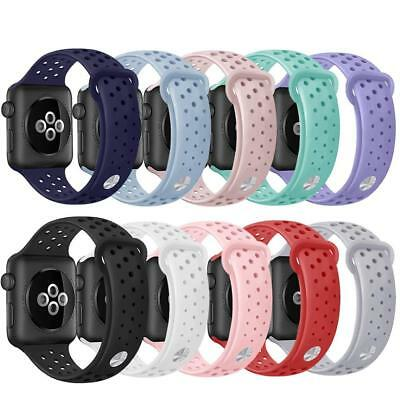 Sport Silicone Bracelet Strap Band for Apple Watch Series 4/3/2/1 38 40 42 44mm