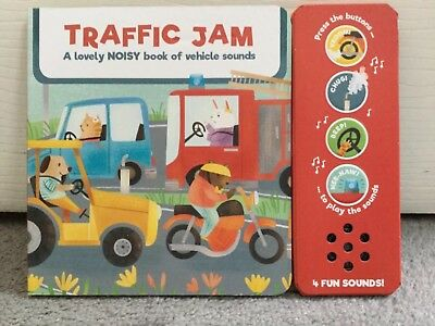 "M&S A NOISY BOOK OF VEHICLE SOUNDS ""TRAFFIC JAM""WITH A STORY TO READ - 12m+ -NEW"