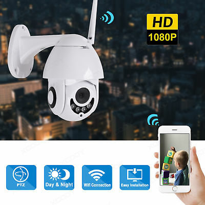 Wireless HD 1080P WiFi PTZ Dome Outdoor IP Camera Home Security 2.0MP Waterproof