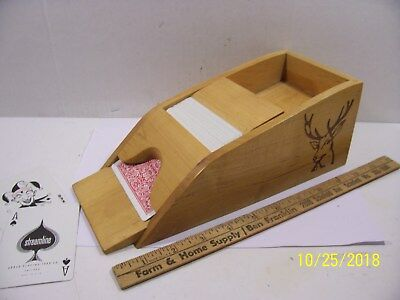 Cool Wood Dealer Playing Card Shoe for BlackJack and Other Casino Games