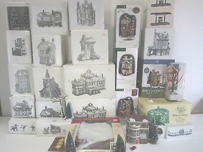 [Lot] Dickens Village Dept 56 OVER 30pcs Most in Boxes and Excellent Condition