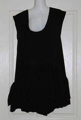 Womens size 12 black loose fit long top made by SUNNY GIRL