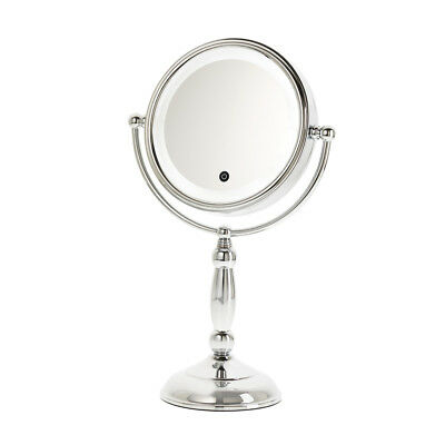 Danielle 10X, 8 1/2 in. Chrome Vanity Mirror With LED Light