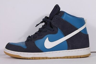 Nike SB Zoom Dunk High Pro Obsidian Industrial Blue White Gum 854851-414  Size 12 06bb42cde6d2