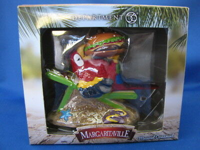 """margaritaville"" Musical Parrot Ornament- Dept. 56-New In Box-Never Opened"