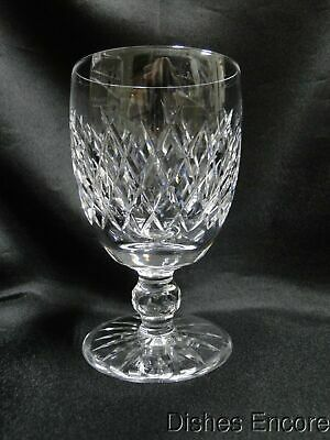 """Waterford Crystal Boyne, Criss Cross Cuts: Water Goblet (s), 5 1/8"""" Tall"""
