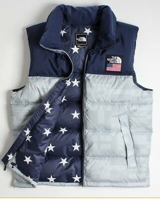 08dc0ec682 North Face Ic Nuptse Vest High Rise Grey Flag Print International  Collection Xl