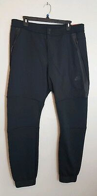 3cc4a82d364f NWT NIKE TECH FLEECE 2 CUFFED MENS PANTS (BLACK BLACK) Sz XL 700769 ...