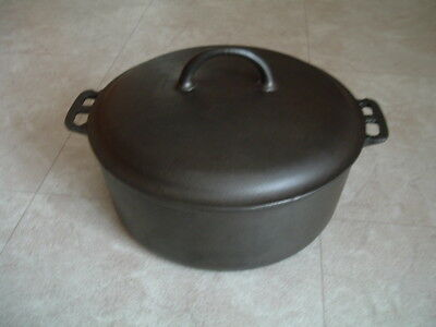 Vintage ERIE #9 cast iron dutch oven pot 834 & cover lid 2552 griswold CLEAN!