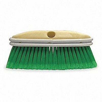 "Soft Safe Car Wash Brush Head 10"" Long And 2.5"" Bristle Length Soft Green Nylon"