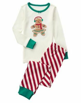 NWT Gymboree Christmas Girls Gymmies Gingerbread Girl Holiday Pajamas 10