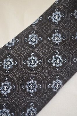 HUGO BOSS Classic Tie 100% Silk Black And Blue Made In Italy