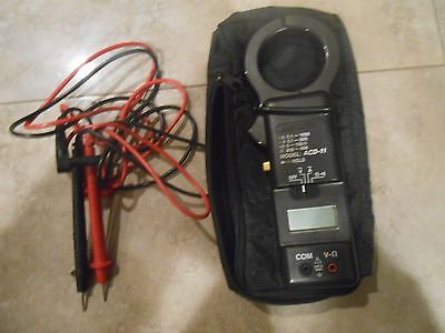 Amprobe ACD-11 Clamp Voltmeter W/ Leads and Case rare find