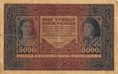 Poland  5000  Marek  7.2.1920  P 31  Series  III Serja AR Circulated Banknote