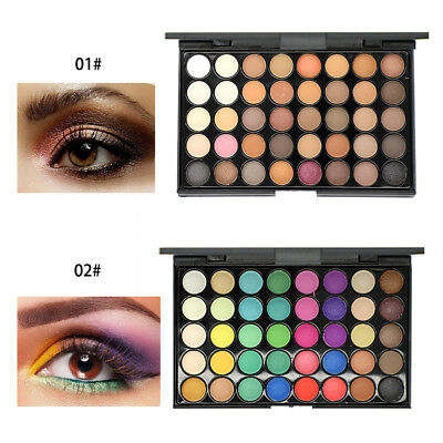 40 Color Cosmetic Matte Eyeshadow Cream Eye Shadow Makeup Palette Shimmer Set K