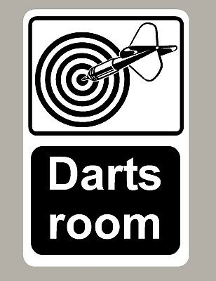 2 X Darts Room Stickers Signs