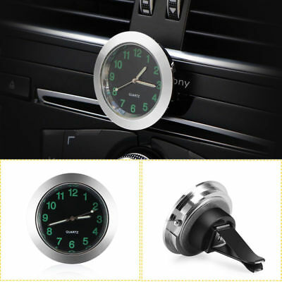 Small Mini Luminous Quartz Analog Watch Car Air Vent Quartz Clock with Clip