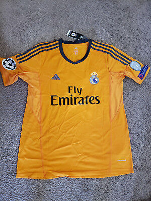 best website d4d26 95854 REAL MADRID CRISTIANO Ronaldo #7 Away 3rd Orange 2013-2014 Kit Soccer  Jersey M