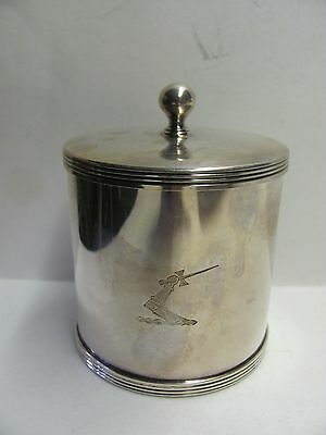 Vintage Silver Plated over Copper Tea Caddy Made in England Stamped
