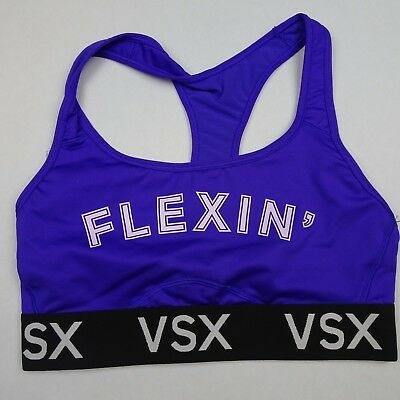 0657bbfb06 NWT Victoria s Secret VSX Sports Bra Size Small Flexin  The Player  Racer-back