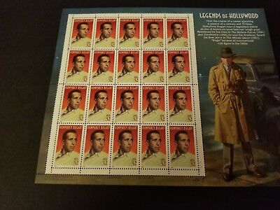Scott #3152     Us Souvenir  Sheet    Humphrey  Bogart  32 Cent    Mnh