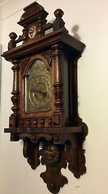 Large Black Forest Gustav Becker style Pendulum Wall Clock