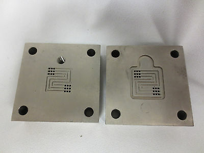 5cm2 titanium Single cell fuel cell test fixture serpentine flow pattern. Set #7