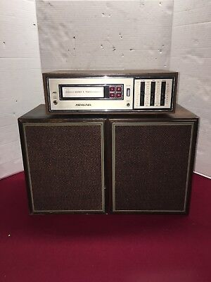 Vintage 8 Eight Track Stereo Tape Player Soundesign 4840D With Speakers & RCA