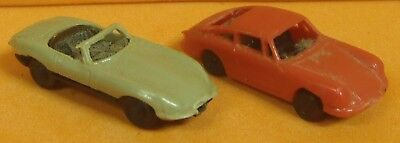Jaguar E-Type And Porsche 911 For Scenery (N Scale)