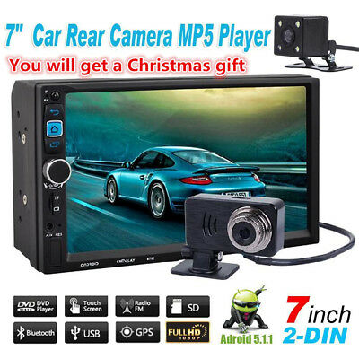 1080P HD Touch Screen Double 2 DIN Car MP3/MP5 Stereo Bluetooth Android 5.1.1 w/