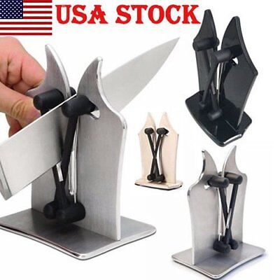 Kitchen Knife Sharpener by BulbHead Sharpens Hones Standard Blade 4 Colors US OY