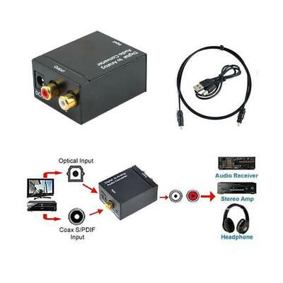 RCA L/R 3.5mm Optical Coaxial Toslink Digital to Analog Audio Converter Adapter