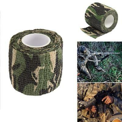 Waterproof Protective Outdoor Camouflage TapeWrap Stretch Bandage Spor 5cm*4.5m