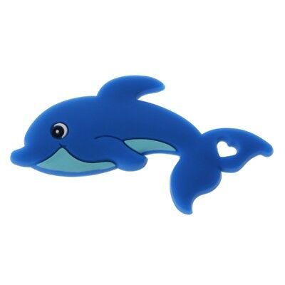 Baby Silicone Dolphin Crib Sensory Toys DIY Nursing Accessories Silicone Teether