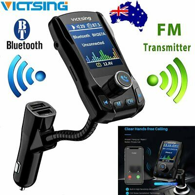 VICTSING Wireless Bluetooth FM Transmitter Car Radio MP3 Music Player 3 USB Port
